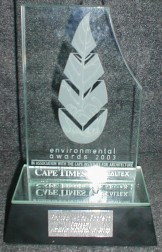 Cape Times Caltex Environmental Award - Photo: Nigel Forshaw